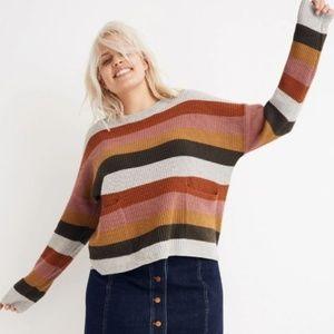 Madewell Patch Pocket Sweater Walton Stripe XXS